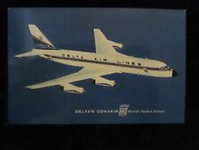 POSTCARD. DELTA'S CONVAIR 880, WORLD'S FASTEST JETLINER