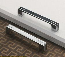 Modern Simple Door Pull Handles Wardrobe Kitchen Cabinet Drawer Knob w/Screws