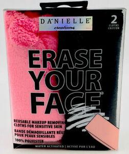 Danielle Creations Erase Your Face Reusable Makeup Removing 2 Reusable Cloth