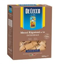 Pasta De Cecco mezzi rigatoni integrali n. 26 Vollkorn italienisch Nudeln 500 g