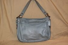 COACH Light Blue Soft leather Carly Hobo Handbag L0920 F14707 RARE