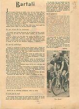 ARTICLE COMPLET Papias Portrait Gino Bartali Tour de France  1938 ILLUSTRATION