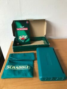 MATTEL 2006 - POCKET SCRABBLE TRAVEL GAME HARD CASE MAGNETIC TILES INSTRUCTIONS