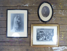 3 antike Bilder Rahmen Bilderrahmen Gründerzeit Jugendstil Vintage 1890