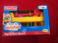 Fisher Price Kids Tap & Turn Toy Bench Hammer Peg Baby Toy