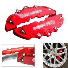 2PCS For Car Wheel Brake Caliper Cover Front Rear Dust Resist Small Size Red