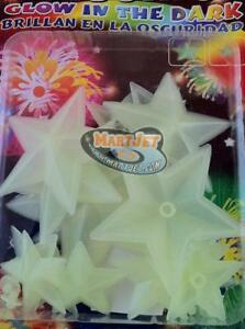 Glow-In-The-Dark Plastic Stars Curtain Decal Baby Kid Room Decor Wall Stickers