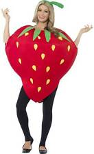 Adult Strawberry Costume Funny Fruit Fancy Dress Food Party Outfit Mens Ladies