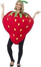 Smiffys Strawberry Costume One Size Adult Unisex Mens/ladies Fancy Dress BN