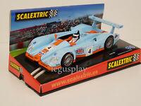 """Slot Car Scx Scalextric 6100 Audi R8 #4 """"Gulf """" 24Hs Le Mans"""