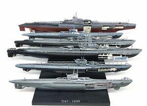 1:350 U.S. German Allied Submarine Model Alloy WWII Warship Model Metal ATLAS