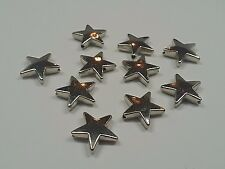 CCB Acrylic Star Beads, Nickel Color, 18x17x5mm, Hole: 2mm Qty 12