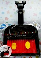 Disney Mickey Mouse Broom and Dustpan Handy Size Fast Free Shipping From Japan
