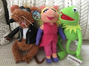 Rizzo The Rat Muppets Plush With Tag by Nanco, Kermit & Miss piggy toy bundle