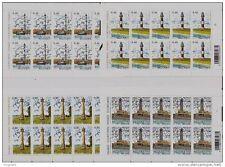 LIGHTHOUSES**4 SHEETS@10vals-2006-FACEVALUE-Belgium-Leuchturme-Phares-vuurtoren