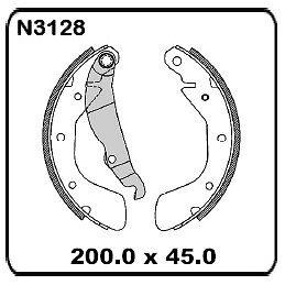Daewoo Nubira 1.6L Sedan & Hatch 6/1997 onwards REAR Drum Brake Shoes SET N3128