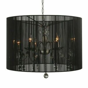 Collectione Merel 8 Light Ceiling Chandelier with Shade Colour: Black
