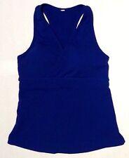 blue Lululemon sports bra tank top athletic womens workout wear