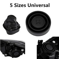 2Pcs Universal Car LED Headlight Seal Cap Dust Cover HID Halogen Kit Retrofit