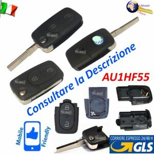 CHIAVE Telecomando GUSCIO AU1HF55 LAMA FLIP 2 TASTI per AUDI A2 A3 A4 A5 A8 TT