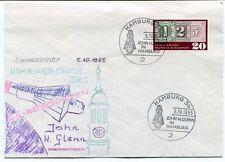 1965 Sonderbrief Hamburgbesuch LLS-Astronauten John H- Glenn Hamburg SPACE