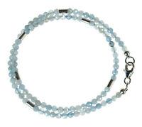 AQUAMARIN Wickel-Armband 925 Silber Armkette Z322