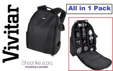 Pro Deluxe Vivitar Backpack Camera Bag Case For Sony NEX-5N NEX-6 NEX-6L NEX-F3