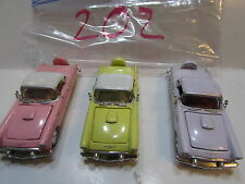 RACING CHAMPIONS LOT OF 3 LOOSE 1956 FORD THUNDERBIRD YELLOW PINK