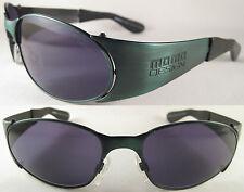 Vintage Momo Design Ladies Sunglasses MS 6004, Metal, Green/Lilac+Original Case