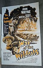 WAR OF THE WILDCATS/IN OLD OKLAHOMA original one sheet movie poster JOHN WAYNE