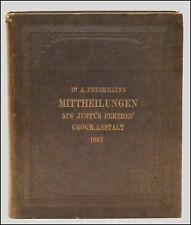 ATLAS - MITTHEILUNGEN aus JUSTUS PERTHES' GEOGRAPHISCHER - PETERMANN'S - 1887
