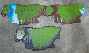 Mega Bloks Terrain Base Plates AM02027 Lot of 3 Replacement Plastic Building Toy