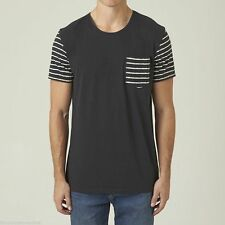 Embellished Tee Cotton Striped T-Shirts for Men
