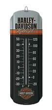 Harley-Davidson® Black Retro Mini Fahrenheit & Celsius Thermometer HDL-10023