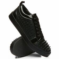 Faranzi Men's Black Silver Spike Sneaker Casual Shoe Fashion Laces Stylish
