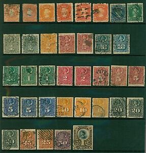 """Chile 1853/78 range of """"Columbus"""" heads issues will benefit from cl Mixed Stamps"""