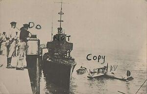 WW1 German Sailor group Zeebrugge Mole MTB  Motor Launch & Captured ? Seaplane