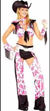 Women's Cowgirl Western Fancy Dress Costume - Fits Up To Size 16
