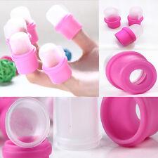 10Pcs Wearable Nail Acrylic Soaker Kits Polish Remover Gel Removal Cap Tips CN