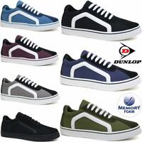 Mens Dunlop Lace Up Canvas Shoes Memory Foam Plimsoll Pumps Skates Trainers Size