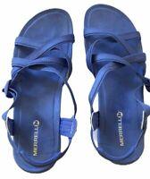 Merrell Womens Terran Ari Lattice Sandal Size 9 Lavender Leather Strappy J94024
