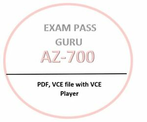 AZ-700 VCE test, PDF,VCE exam OCTOBER updated! 60 Questions!