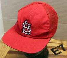 ST. LOUIS CARDINALS RED SNAPBACK HAT MESH BACK EMBROIDERED GOOD CONDITION E7