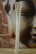 Decken Lampe Bali Leuchte Bambus Vintage Weiß 100cm Handmade