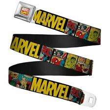 Marvel Comics Retro Full Colour Webbing Seatbelt Buckle Belt