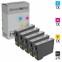 5pk For Epson 212 212XL Ink Cartridge Set WorkForce WF-2850 WF-2830 XP-4105
