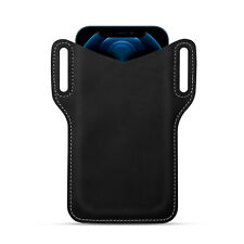 Men Cell Phone Waist Belt Pack Bag Loop Holster Pu Leather Pouch Case Holder Us