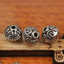 70pcs 7mm Bicone Tibetan silver Bead Spacer DIY Jewery Making Fit Bracelet A7269