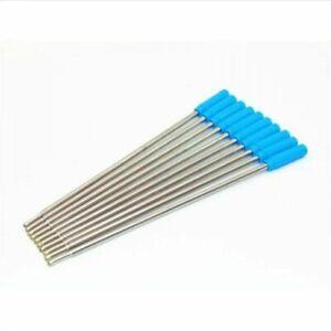 4.5 Inch Ballpoint Pen Refills for Cross Pens Medium Fine Point Blue Ink 10Pack