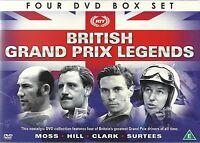 BRITISH GRAND PRIX F1 LEGENDS - MOSS HILL CLARK SURTEES 4 DVD BOX SET FORMULA 1